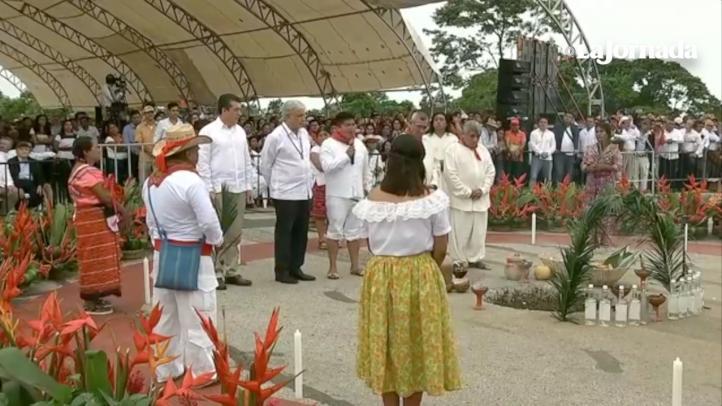 Ritual para inicio de obra del Tren Maya