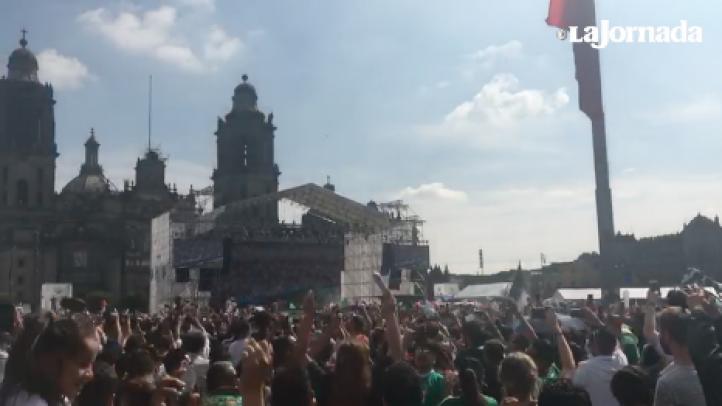 Festejo en el Zócalo