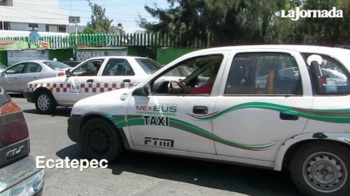 Agrupaciones de taxistas en el estado de México hacen frente común contra la empresa Uber