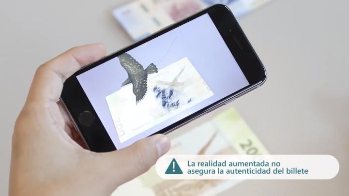 Destaca BdeM que su app no es para autentificar billetes