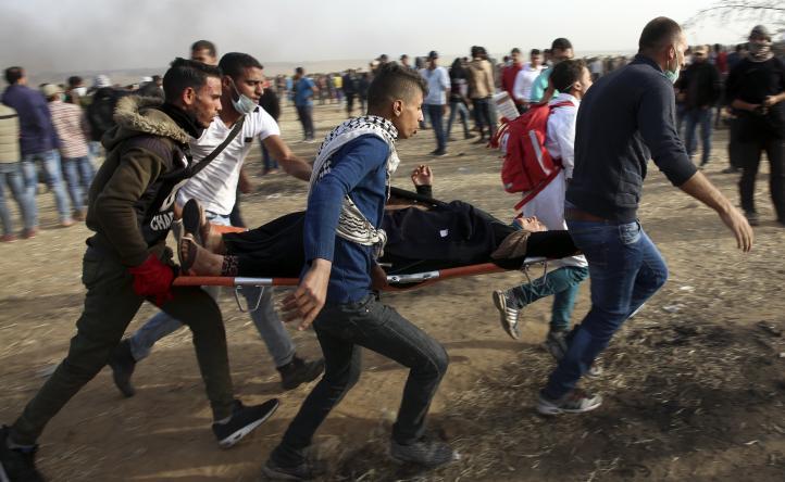 Miles de palestinos protestan en Franja de Gaza. Al menos hay 9 heridos