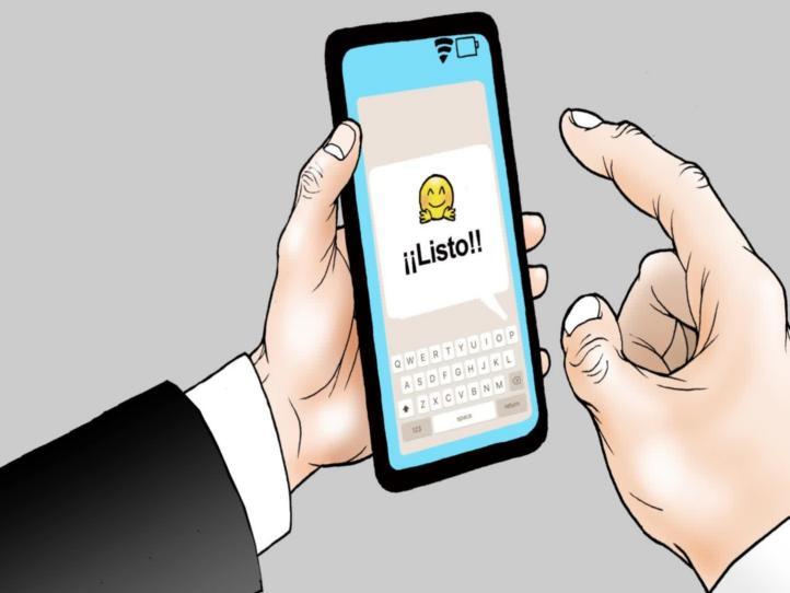 Moneros animados: Mensajes, por Helguera