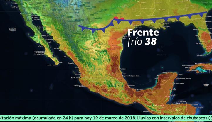 Pronóstico del tiempo para el 19 de marzo de 2018