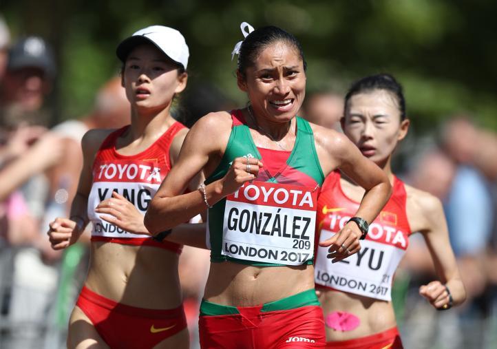 Lupita González, segundo lugar en el Mundial de Atletismo