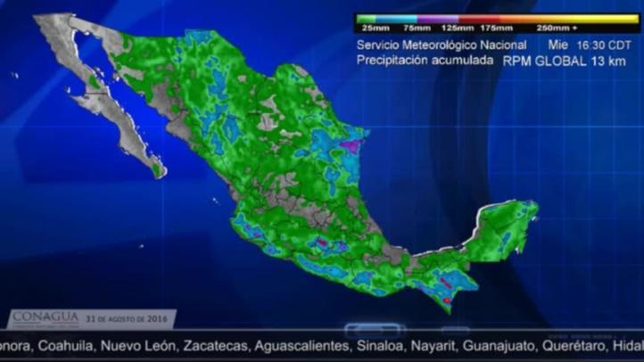 Pronostican lluvias fuertes en el sureste del país