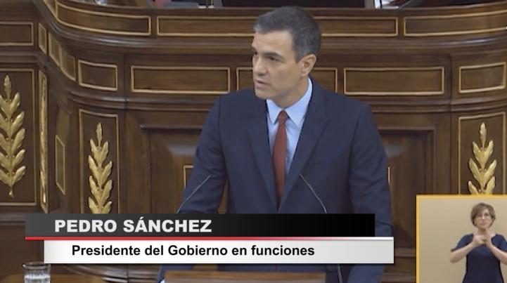 Sánchez se presenta a la investidura sin mencionar el conflicto catalán