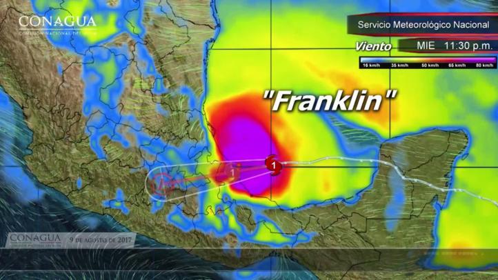 Franklin tocará tierra en Veracruz