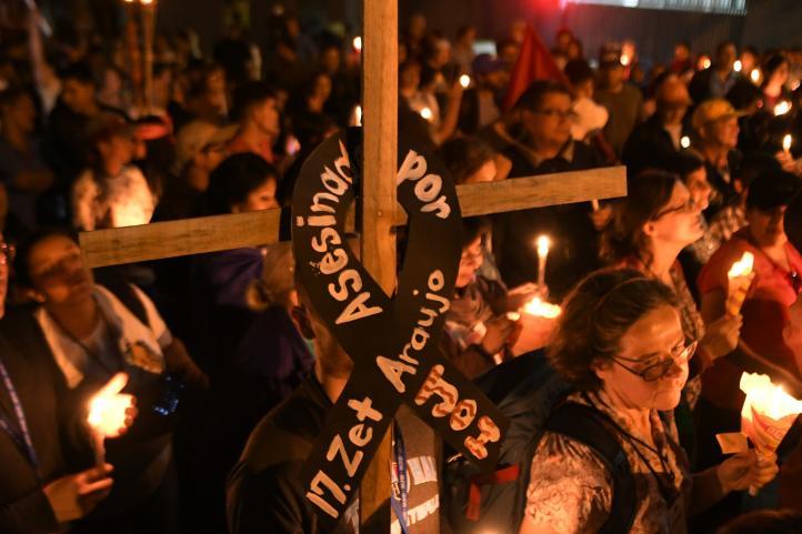 Hondureños se manifiestan ante embajada de EU