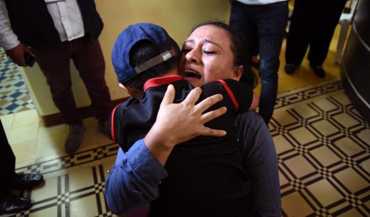 Nueve niños se reúnen con sus padres en Guatemala