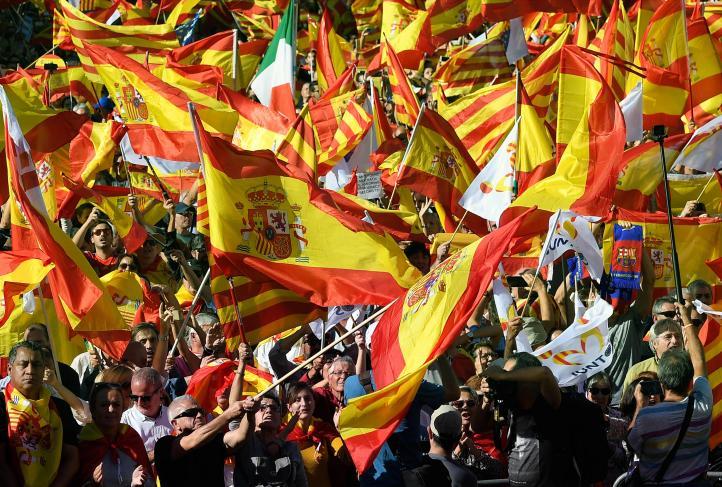 Manifestación en Barcelona por unidad de España