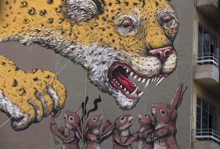 Con murales callejeros protestan por la violencia en México