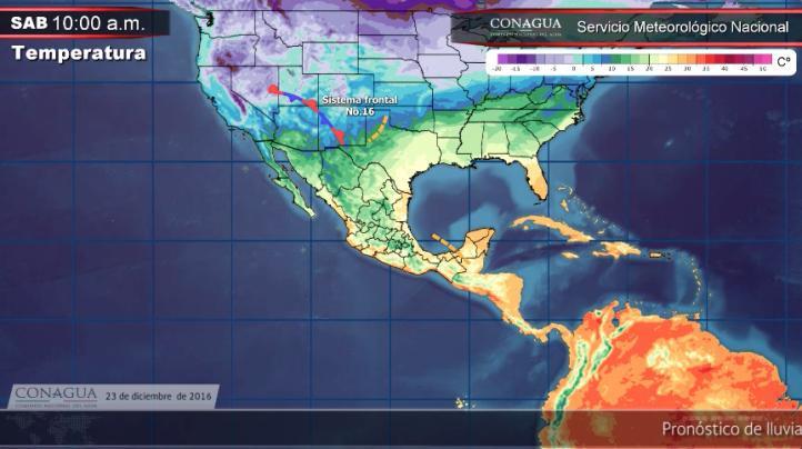 Pronóstico del tiempo para el 23 de diciembre
