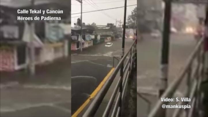 Tormenta causa inundaciones en la CDMX