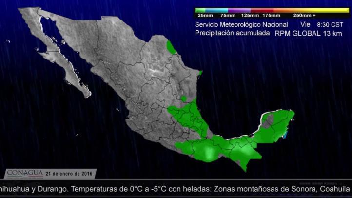Pronóstico del tiempo del 21 de enero de 2016