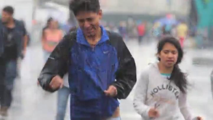 Intensa lluvia en la ciudad de México