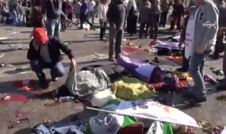 Atentado contra protesta opositora en Turquía