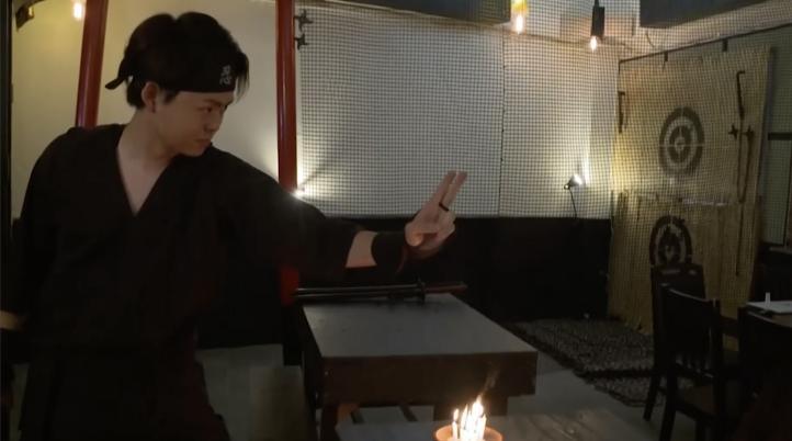 Nuevo café de Tokio enseña el combate ninja