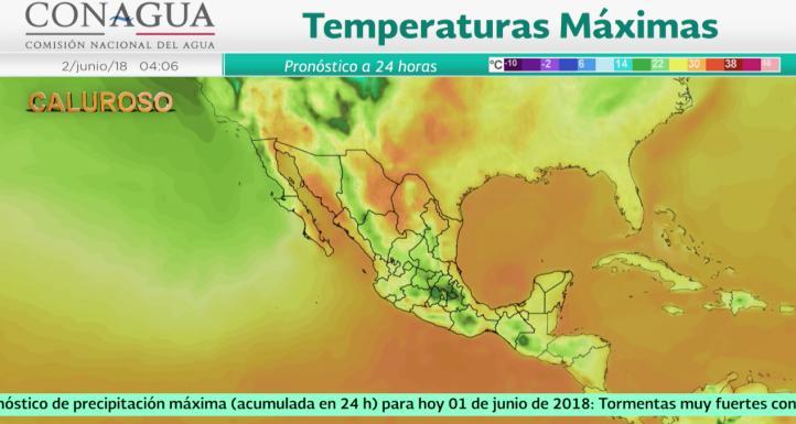 Pronóstico del tiempo para el 1 de junio