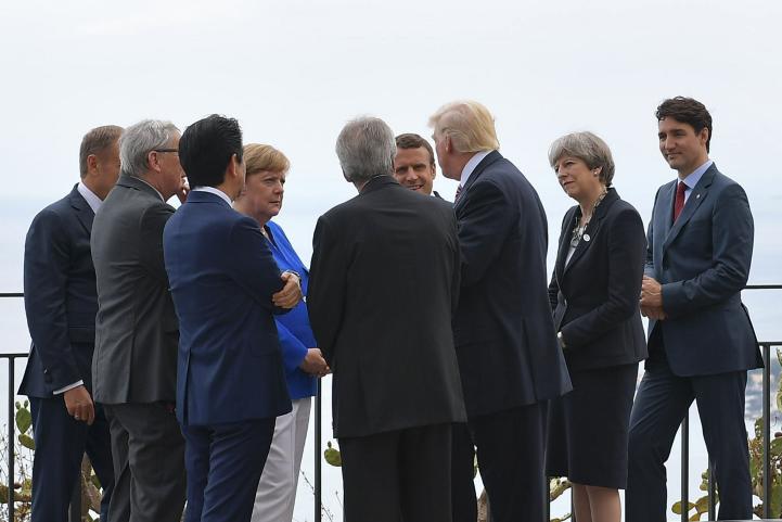 Trump y G7 buscan pactos sobre terrorismo, comercio y clima