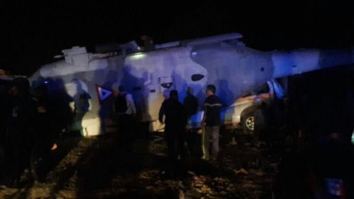 Cae helicóptero donde viajaba secretario de Gobernación y gobernador de Oaxaca