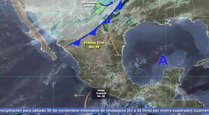 Pronóstico del tiempo para el 30 de noviembre y 1 de diciembre de 2019