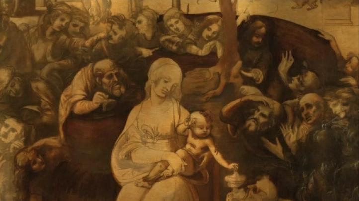 """Restaurada """"La adoración de los magos"""" de Leonardo da Vinci"""