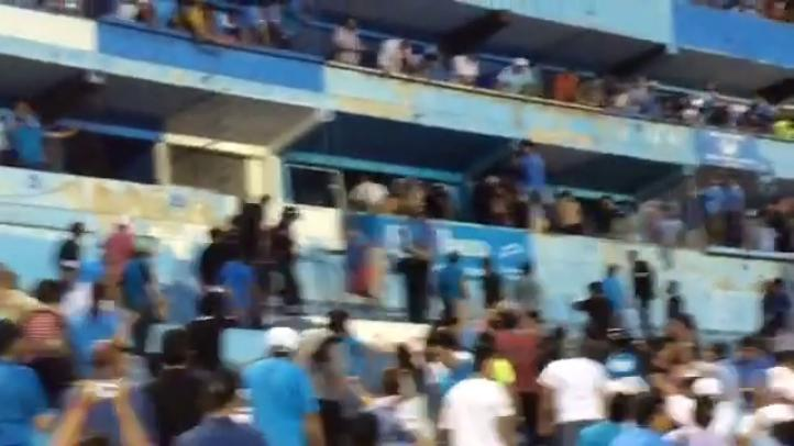 Zafarrancho en estadio de Tamaulipas