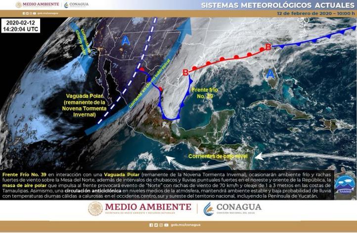 Pronóstico del Tiempo para el 12 de febrero de 2020
