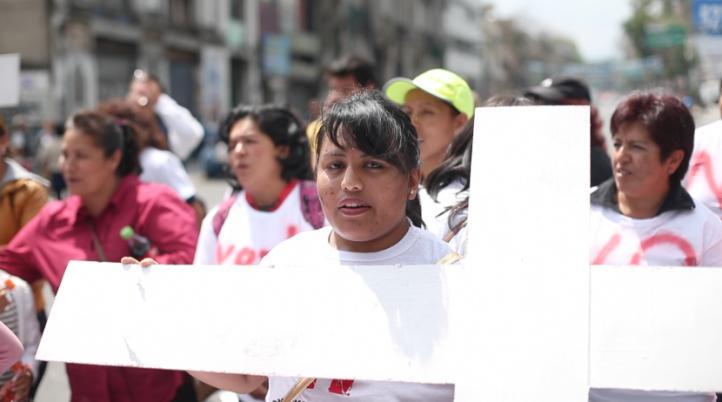 Protestan contra feminicidios en el Estado de México