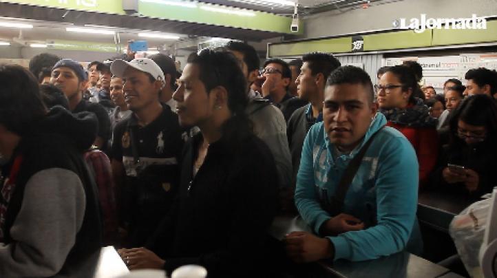 Caos en el Metro en viernes