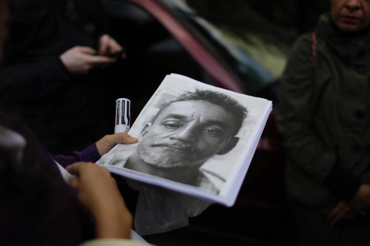 Protesta en Segob por asesinato de Cándido Ríos