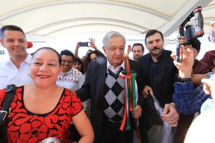Reciben a AMLO en Oaxaca