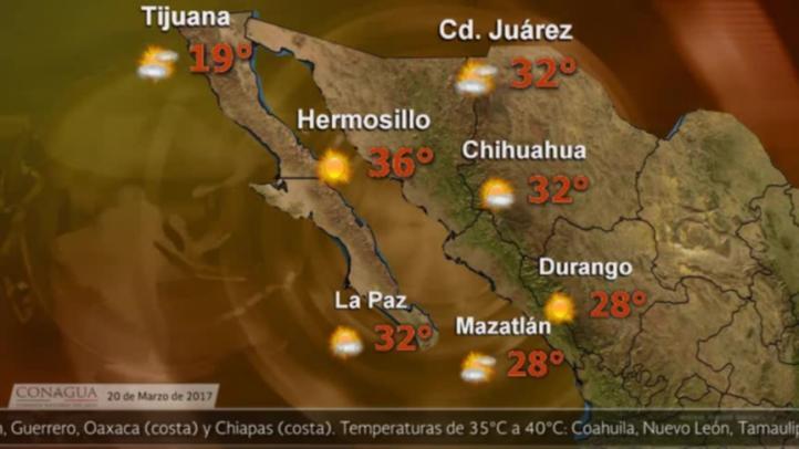 Pronóstico del tiempo para el 20 de marzo