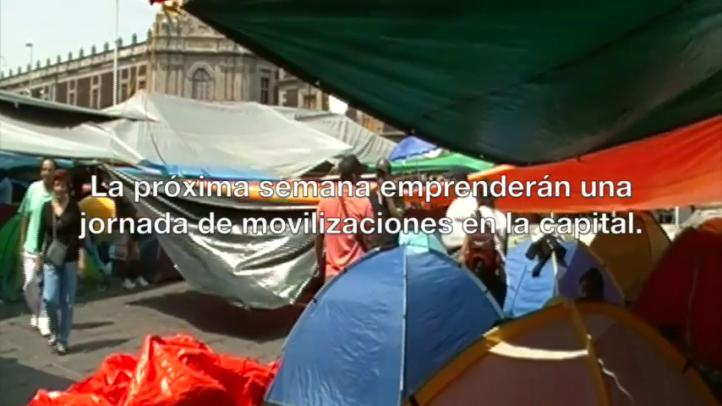 Por amenaza de desalojo, CNTE cambia plantón
