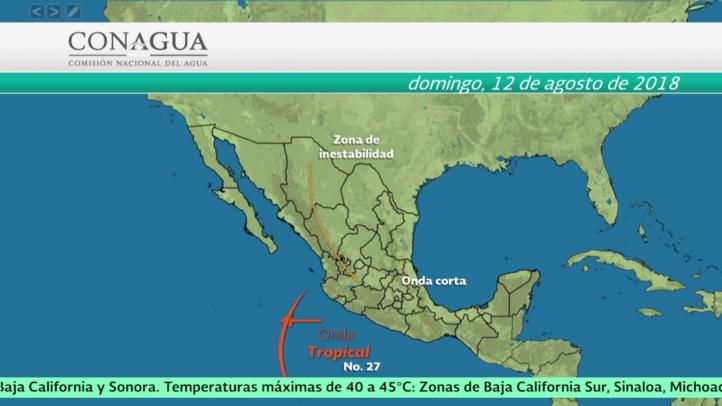 Pronóstico del tiempo para el 11 y 12 de agosto
