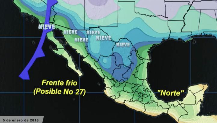 La entrada de un nuevo frente frío mantendrá las temperaturas bajas