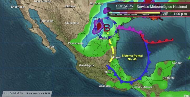 Pronóstico del tiempo para el 11 de marzo