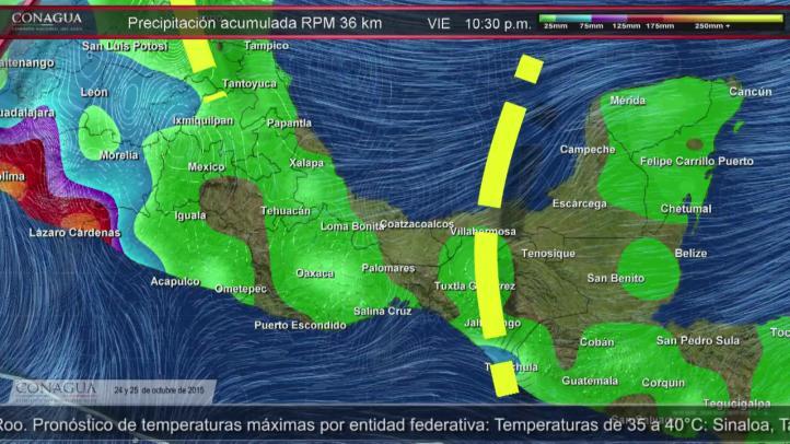 Pronóstico del tiempo 24 y 25 de octubre