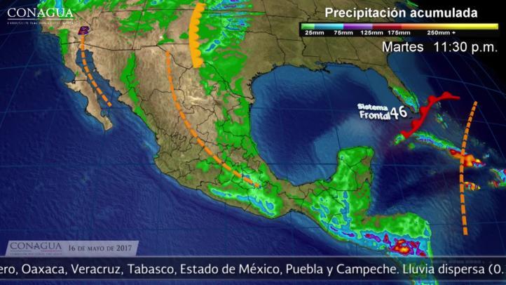 Pronóstico del tiempo para el 16 de mayo
