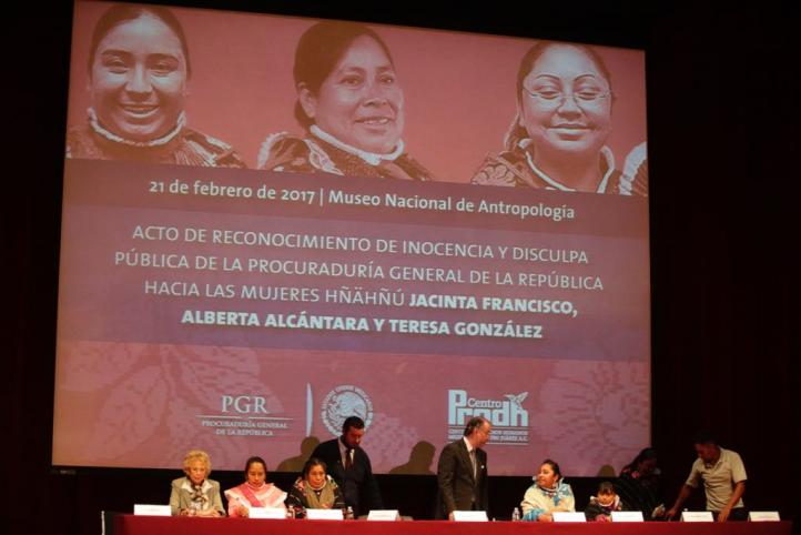PGR se disculpan con Jacinta, Teresa y Alberta