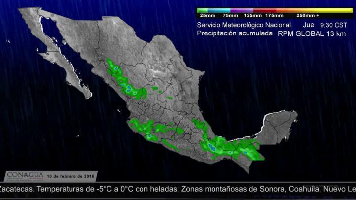 Pronóstico del tiempo para el 10 de febrero
