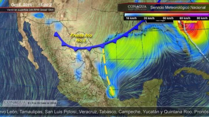 Pronóstico del tiempo para el 8 y 9 de octubre