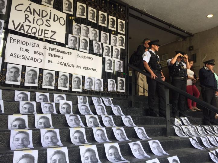 Protesta por asesinato del periodista Cándido Ríos
