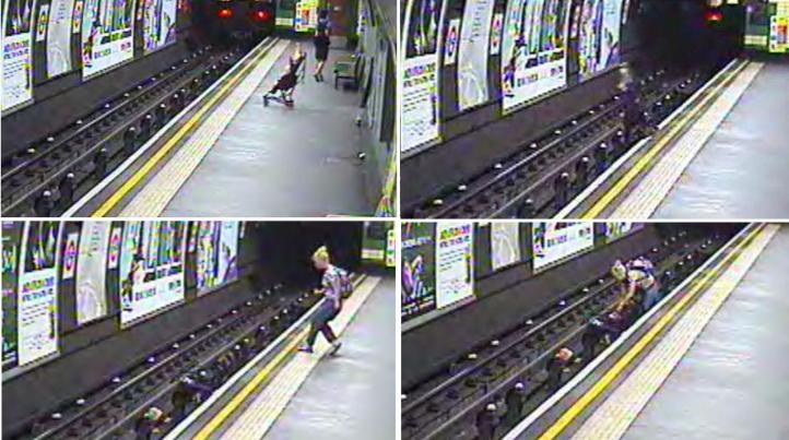 Londres: Imágenes de bebé que cae a los rieles del metro
