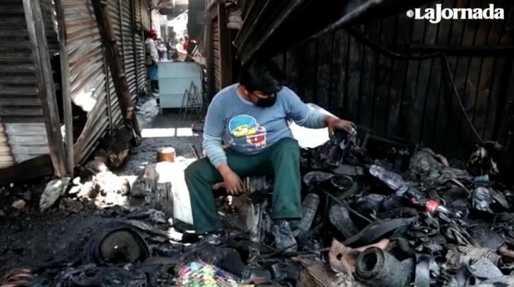 Responsabilizan a autoridades del gobierno y del mercado de incendio en Central de Abasto en Oaxaca