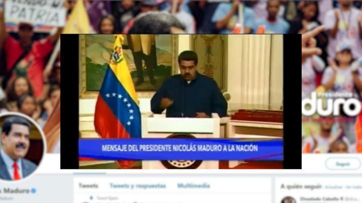 """Maduro anuncia detención de dos personas por """"sabotaje"""" eléctrico"""