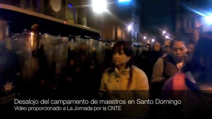 Desalojan a maestros de Santo Domingo