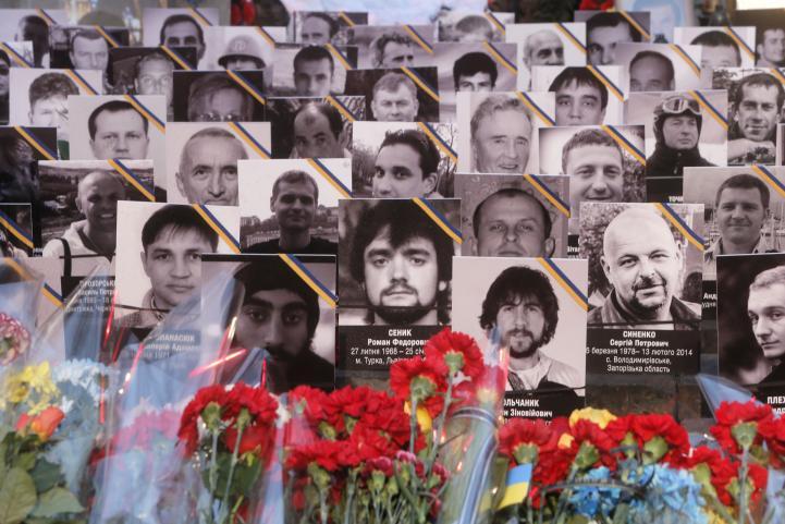 Conmemoran un año de la masacre en Kiev