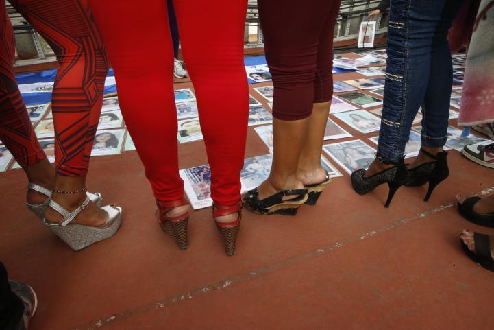 Marcha de madres de migrantes desaparecidos y reunión con sexoservidoras