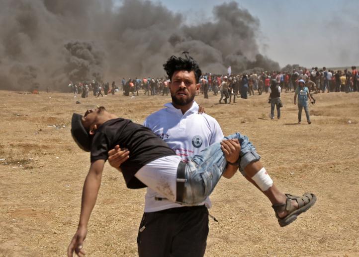 Israel mata a 55 palestinos en la frontera de Gaza